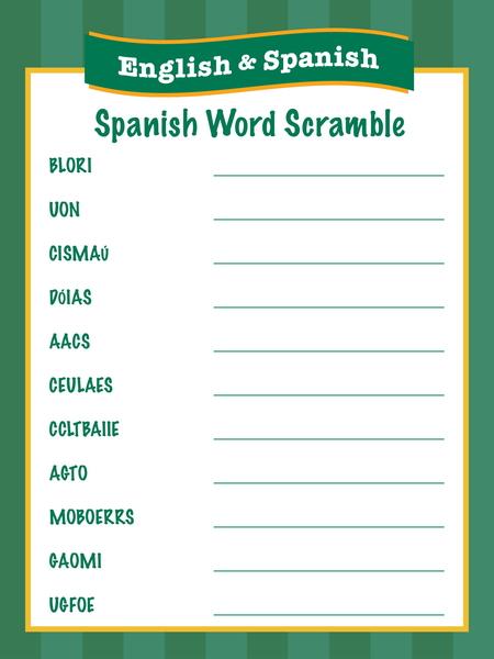 Spanish_WordScramble
