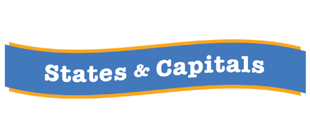 states and captitals banner